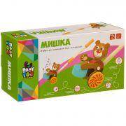 Игрушка деревянная Bondibon каталка МИШКА, 11х7х54,5 BOX