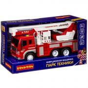 Инерционная машинка Bondibon «ПАРК ТЕХНИКИ»,  пожарная машина, свет, звук BOX 32,5х12х19