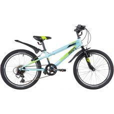 "Велосипед NOVATRACK 20"" RACER, голубой, сталь, 6 скор., Microshift TS38-6/Shimano, V-Brake grt-20SH6V.RACER.BL20 NOVATRACK 15 530 р. 20"" Хардтейл сталь"