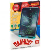 Планшет с жидкокристаллическим  6,5-дюймовым экраном, зелёные линии, цвет корпуса голубой, тм Bondib