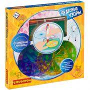 Настольная игра Bondibon Спирограф-линейка «ЧУДЕСНЫЕ УЗОРЫ», альбом,  шестицветная  ручка, BOX