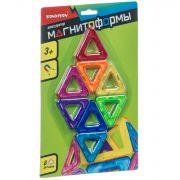 Магнитный конструктор МАГНИТОФОРМЫ Bondibon, 8 треугольников, CRD 26x17х3 см, арт.JH8842D.