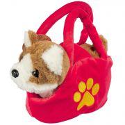 Собака в сумочке Bondibon на бат., коричнево-белая, 17см , ходит, двигает хвостом,  лает