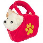 Собака в сумочке Bondibon на бат., белая, 14 см , лает
