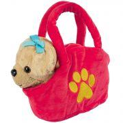 Собака в сумочке Bondibon на бат., св. коричневая, 17 см , лает