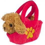 Собака в сумочке Bondibon на бат., коричневая, 12 см , лает
