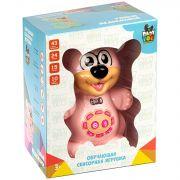 Умный медвежонок BABY YOU Bondibon, свет.,музык.,обучающие функций, сенсор. кнопки, цвет розовый,арт