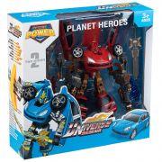 Игр. пласт. робот-трансформер Planet Heroes, ВОХ 34x33x10см, цвет красный, арт.L015-2.