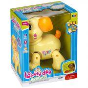 Игр. пласт. на бат. музык. Весёлый пёс, ВОХ 24х20,5х14,5 см, цвет жёлтый с оранжевым, арт.261.
